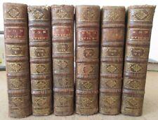 CERVANTES HISTOIRE DE L'ADMIRABLE DON QUICHOTTE 57 GRAVURES 1713-18  6 VOLUMES