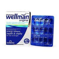 Vitabiotics Wellman Original 30 Tablets Multi Vitamin Minerals A B C D Iron Zinc