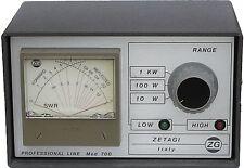 Zetagi MOD 700 Professional cross needle SWR & power meter HF VHF UHF