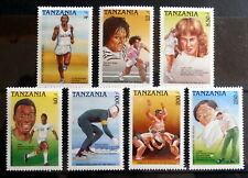 TANZANIA : Famous Athletes of the World, Set of 7