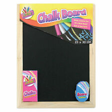 1 x Small Chalk Black Board Blackboard Dry Wipe Erase White Chalk,NEW