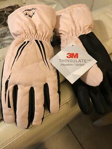 XL Pink Ski Gloves 3M Thinsulate ANQIER BRAND