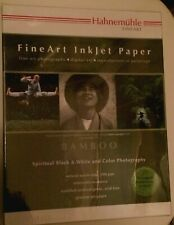 "Hahnemuehle Bamboo 290 Smooth Matte Fine Art Paper 8.5x11"" 25 Sheets NEW"