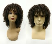 Brown Dreadlocks w/ Bangs Unisex Synthetic Wig 12""
