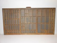 Vintage Printers Wooden Type Drawer Letterpress California Job Case  Wood Tray
