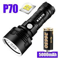 Lampe Torche LED Super puissant P70 XHP50 USB Rechargeable