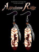 APPALOOSA RIDGE WILD HORSE EARRINGS HORSES COWGIRL ART JEWELRY RODEO  FREE SHIP'