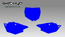 KIT ADESIVI GRAFICHE TABELLE BLUE YAMAHA YZF 250 2014 - 2017 DECALS PLATES KIT