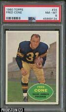 1960 Topps Football #34 Fred Cone Dallas Cowboys PSA 8 NM-MT