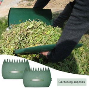 1 Pair Garden Yard Leaf Scoops Hand Rake Large Leaf Grabber with Claws