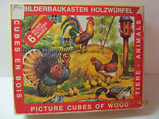 Vintage Wood Block Lithograph Puzzle-Made In Germany-In Original Box