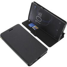 BORSA PER SONY XPERIA L1 book-style custodia protettiva cellulare a libro nero