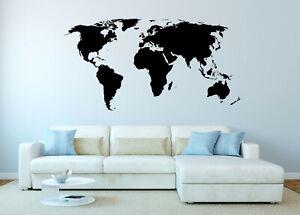 Wandtattoo Weltkarte Gunstig Kaufen Ebay