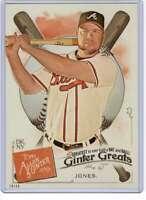 Chipper Jones 2019 Allen and Ginter Ginter Greats 5x7 #GG-19 /49 Braves