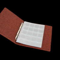 2 Pages 20 Pockets Plastic Coin Holders Storage Collection Money Album Cases j5l