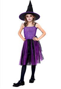 Kids Girls Halloween Costume Party Gothic Vampire Witches Cosplay Fancy Dresses