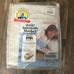 New Vintage Sunbeam Smart Automatic Electric Heated Blanket With Brain SZ Full