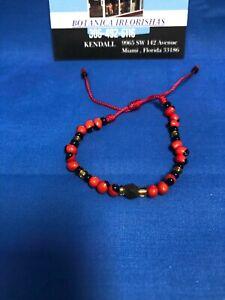 PEONIA Bracelet  Brazalete DE HILO Pulsito  Pulso Rojo con Azabache