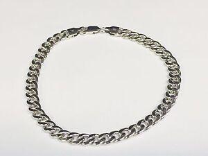 """14k White Gold Miami Cuban Curb Link 7"""" 5.3mm 6.5 grams Bracelet WHMC150"""