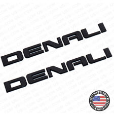 2x Denali Door Tailgate Letter Nameplate Emblem HD Badge GMC 3D HD Gloss Black