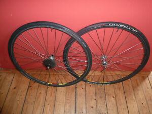 Mavic Open Sup Ceramic rims 36h Campagnolo schimano 7 speed hubs wheels wheelset