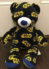 "Build A Bear Star Wars Logo Stuffed Teddy Bear Plush 17"" Bab Disney Collectible"
