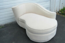 Vintage Vladimir Kagan Style Serpentine Curved Chaise Lounge 1248