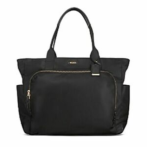 Tumi Voyageur Mansion Carry-All, Duffel Tote Carry On  Black, Gold Hardware