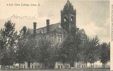 Lima Ohio~Open Belltower in Main Building~Lima College~1905 Rotograph A2716