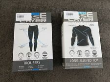 Oxford Base Layer TWIN PACK Trousers & Long Sleeved Top Size L/XL LA601 & LA611