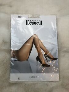 Wolford Naked 8 Tights Caramel Size Small