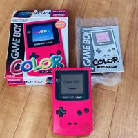 Nintendo Gameboy color red Rare Boxed Japanese Release Genuine w/b