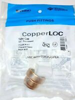 "Tectite Copper 3/4"" Push-to-connect Tube Cap, End Cap, Permanent 10170890"
