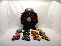 Hot Wheels Spinning Tire 16 Car Carry Case with Cars 1998 1:64