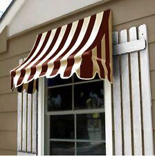 "Awntech 6' Nantucket Window or Doorway Awning, 31"" x 24"", Burgundy/Tan"