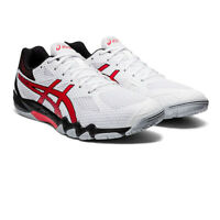 Asics Mens Gel-Blade 7 Indoor Court Shoes White Sports Squash Badminton Handball