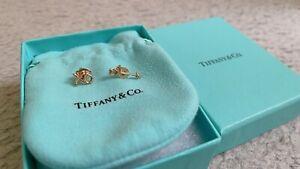 Genuine Used Tiffany & Co 18k Rose Gold Earring RRP $445 Each