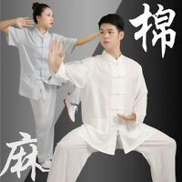 Kung Fu Tai Chi Cotton Linen Uniform Arts Wushu Clothing Taiji Wing Chun Suit