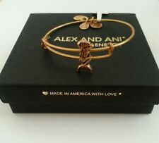 Alex and Ani MERMAID SLIDER Russian Gold Bangle Bracelet New W/ Tag & Box