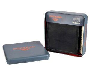 Dockers Men's Rfid Blocking Extra Capacity Hipster Duplex Bifold Wallet Black