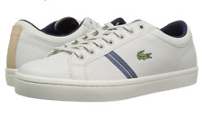 Lacoste Men's Straightset Sneaker | Off White Natural Leather | 12.5 Medium US