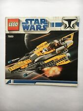 Lego Anakin's Jedi Starfighter 7669 Instruction Manual book ONLY - * No LEGOS