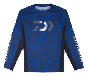 Daiwa Splash Fishing Shirt Blue Long Sleeve UV Protection