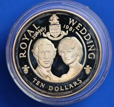 More details for 1981 royal wedding silver proof 28g - cayman is. ten dollar $10   [22682]