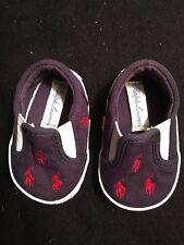 Ralph Lauren Polo Navy Blue Canvas Shoes Pony Infant Sz 1