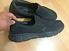 Mens black loafers, shoes, Skechers, sz;12