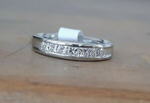Platinum Princess Cut Diamond Half Eternity Ring
