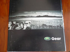 Land Rover Gear Issue 6 lifetsyle Accessories brochure c2002