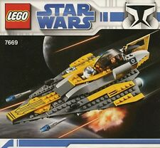 LEGO STAR WARS ANAKINS JEDI STARFIGHTER 7669 ANAKIN R2D2 100% COMPLETE GUARANTEE