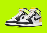 "Air Jordan 1 Retro High ""Volt"" GS Size 4.5Y- 7Y 575441-118"